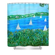 Wake Up Maggie Shower Curtain