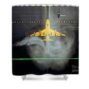 Wake Vortex Flow Visualization Tests Shower Curtain