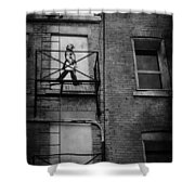 Walk On White  Shower Curtain