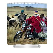 Walk Through The Highlands. Republic Of Bolivia.  Shower Curtain