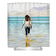 Walking Away 2 Shower Curtain