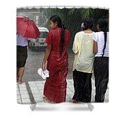 Walking In The Rain Shower Curtain
