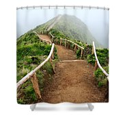 Walking Into The Clouds Shower Curtain by Gaspar Avila