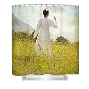 Walking On The Meadow Shower Curtain