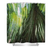 Walking Palm Tree Abstract Shower Curtain