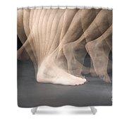 Walking Shower Curtain