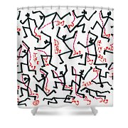 Walking The Dogs - Dec Two K Eleven Shower Curtain