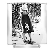 Walking The Shoreline Shower Curtain