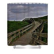 Walkway On Phillip Island Shower Curtain