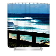 Walkway To The Sea Shower Curtain by Phill Petrovic