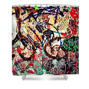 Wall Of Conversation Shower Curtain