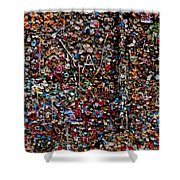 Wall Of Gum Shower Curtain