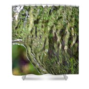 Wall Of Water Abstract Shower Curtain