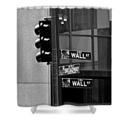 Wall Street And Broadway Shower Curtain