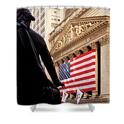 Wall Street Flag Shower Curtain