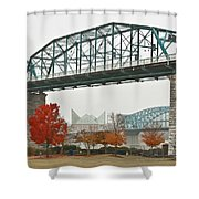 Walnut Street Bridge Shower Curtain by Tom and Pat Cory