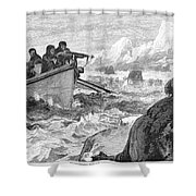 Walrus Hunt, 1875 Shower Curtain