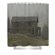 Walsh-duncan House In Storm Shower Curtain