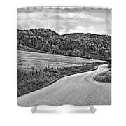 Wandering In West Virginia Monochrome Shower Curtain