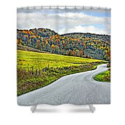 Wandering In West Virginia Shower Curtain