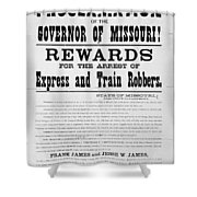 Wanted Poster, 1881 Shower Curtain