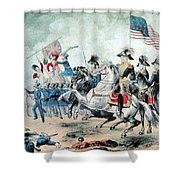 War Of 1812 Battle Of New Orleans 1815 Shower Curtain by Photo Researchers
