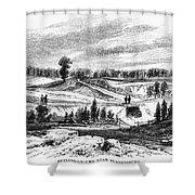 War Of 1812: Bladensburg Shower Curtain