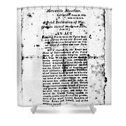 War Of 1812: Broadside Shower Curtain