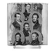War Of 1812: Generals Shower Curtain