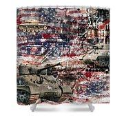 War Wagons    Shower Curtain