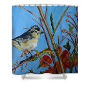 Warbling Verio Shower Curtain