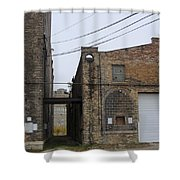 Warehouse Beams And Drain Pipe Shower Curtain
