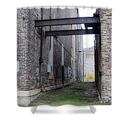 Warehouse Beams And Grafitti Shower Curtain