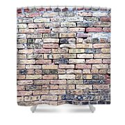 Warehouse Brick Wall Shower Curtain