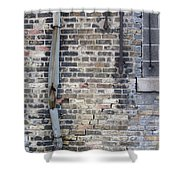 Warehouse Drain Pipe 1 Shower Curtain