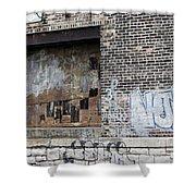 Warehouse Grafitti 2 Shower Curtain