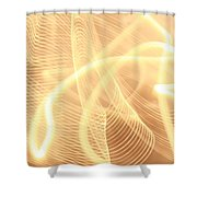 Warm Strings Of Glowing Light Shower Curtain