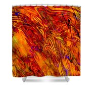 Warmth And Charm - Abstract Art Shower Curtain