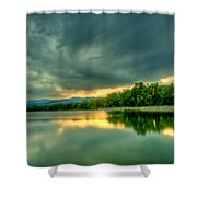 Warren Lake At Sunset Shower Curtain