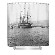 Warship Kaiser On Which Kaiser Wilhelm II Of Germany Came To Istanbul Shower Curtain