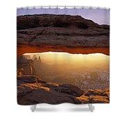 Washer Woman Arch Seen Through Mesa Shower Curtain