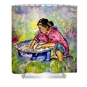 Washerwoman Beauty Shower Curtain