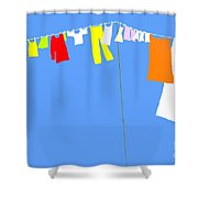 Washing Line Simplified Edition Shower Curtain