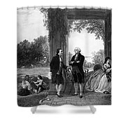 Washington And Lafayette, Mount Vernon Shower Curtain