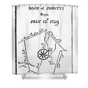 Washington: Book Of Surveys Shower Curtain