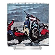 Washington Crossing The Delaware, 1776 Shower Curtain