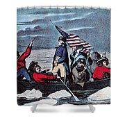 Washington Crossing The Delaware, 1776 Shower Curtain