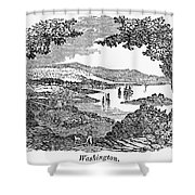 Washington, D.c., 1840 Shower Curtain