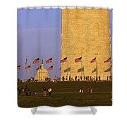 Washington Dc Sunset Shower Curtain