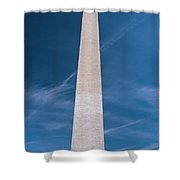 Washington Monument And Flags Shower Curtain